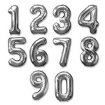 Silver Number Mylar Balloons in Rockville MD, Palace Florists