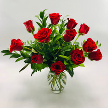 Red Rose Passion - One Dozen Short Stemmed Roses -  LOCAL DELIVERY ONLY