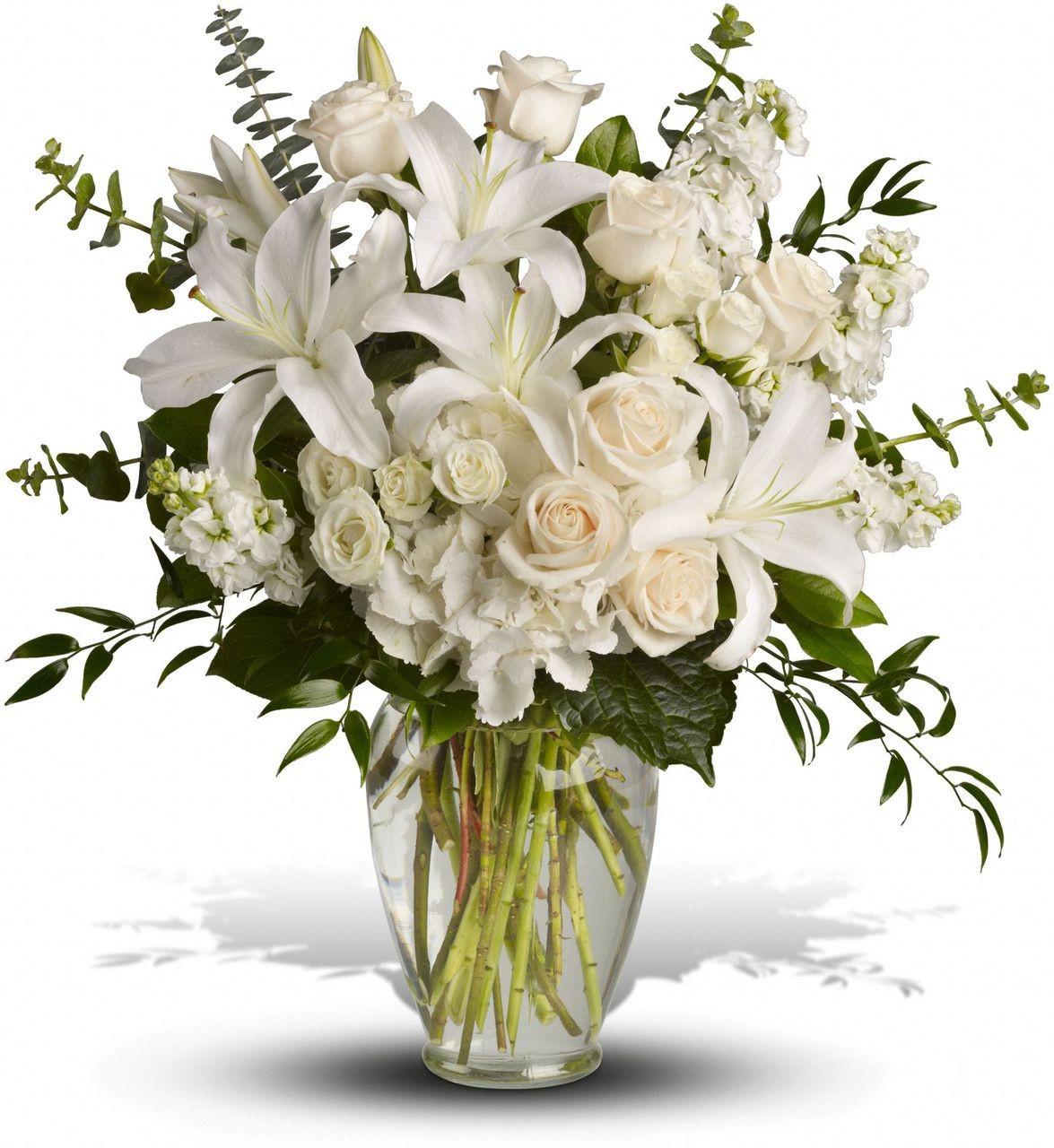 White Flower Arrangments In Washington Dc And Rockville Md Palace