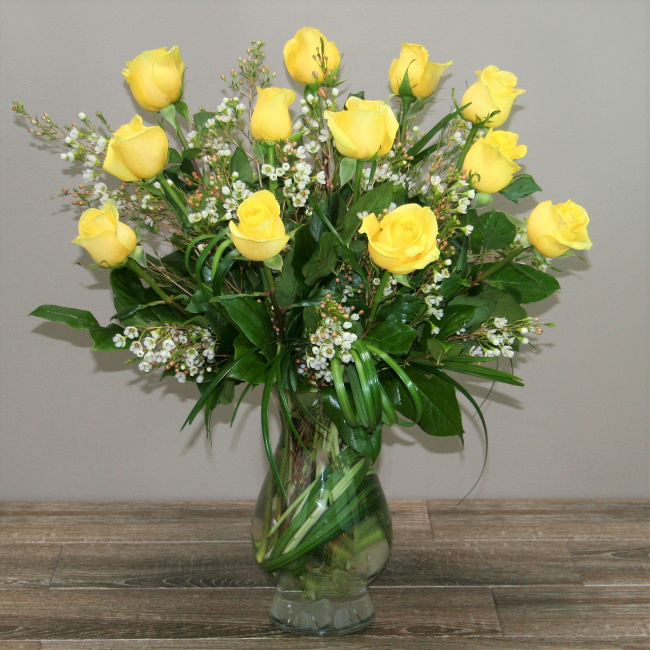 One Dozen Royal Roses Yellow In Washington Dc And Rockville Md