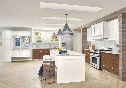 KraftMaid L-shaped contemporary kitchen