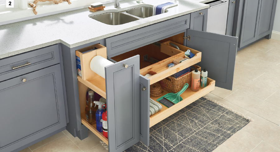 KraftMaid Pull-Out Base Cleaning Cabinet