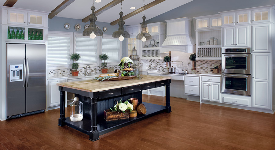 Popular Kitchen Layouts The L Shaped Kitchen Kraftmaid