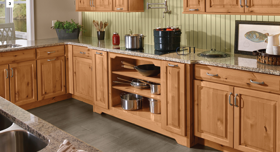 KraftMaid Natural Kitchen Cabinet Storage