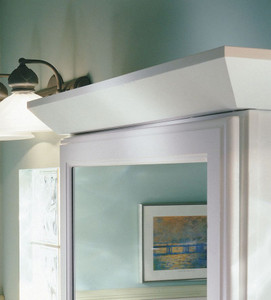 White Angle Crown Molding