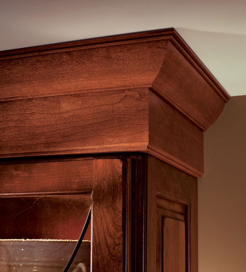 Moldings And Accents At Kraftmaid Com: Large Federal Molding Shown With Double Bead On Top