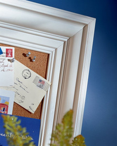Classic Crown Molding as Corkboard Frame