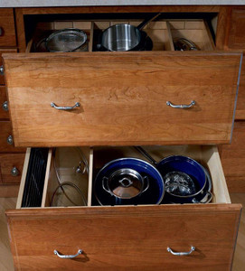 Base Pots and Pans Storage with Adjustable Drawer Dividers