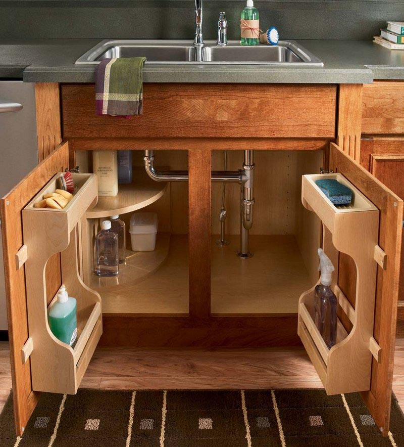 Corner Sink Base Kitchen Cabinet: Sink Base Multi-Storage Cabinet