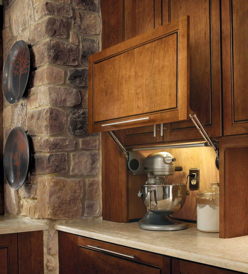Kitchen Cabinets Or Open Shelving We Asked An Expert For: Wall Appliance Garage