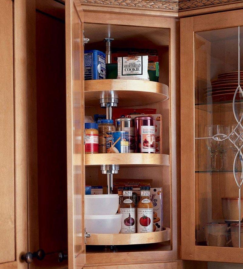 Kitchen Cabinets Upper Corner: Wall Angle W/ Lazy Susan