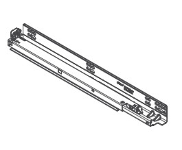 """Whisper Touch™ Drawer Runners for Two Drawer Cabinets, 21"""""""