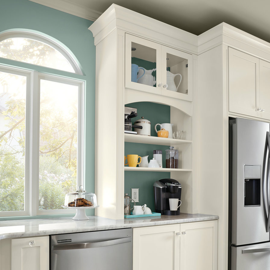 Kitchen Cabinet Cleaning Service: Coffee Station