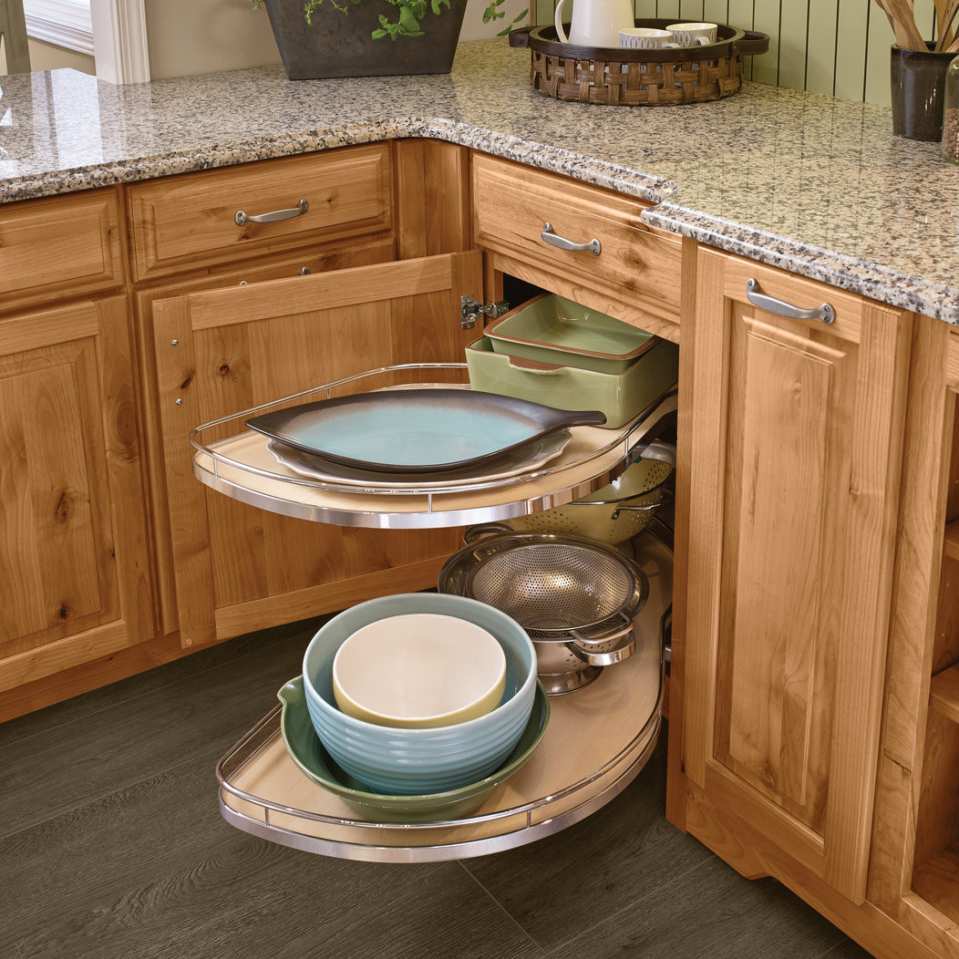 Corner Sink Base Kitchen Cabinet: Base Blind Corner With Chrome Swing-Outs
