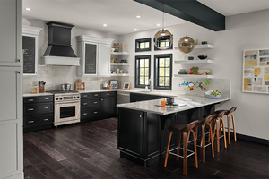 Maple Kitchen in Moonshine and Onyx