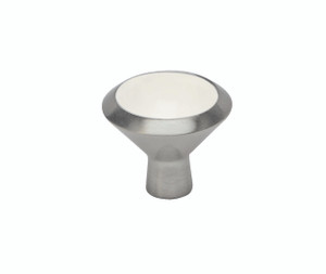 Smithwick Knob - Satin Nickel  and White