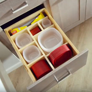 Multi-Sized Deep Drawer Organizer with Storage