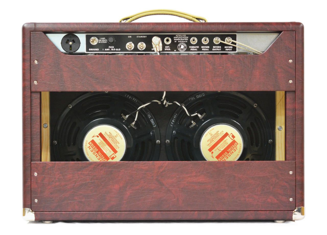 Zephyr 22 2x Jensen C10Q Speakers Wine Taurus Tolex