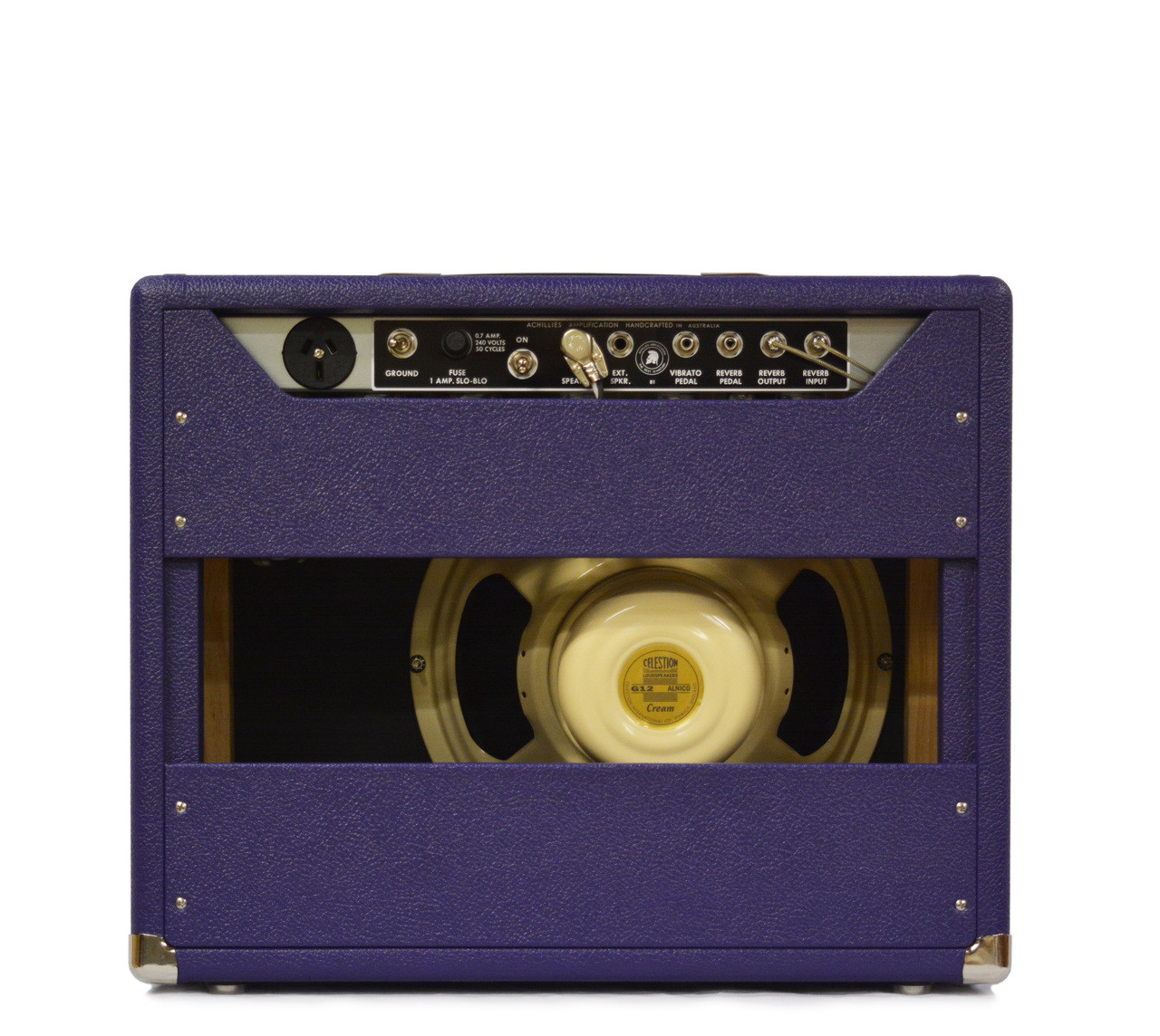 "Zephyr 15 Celestion Alnico Cream 12"" Speaker Purple Bronco Tolex"