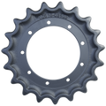 Prowler Takeuchi TB53FR Drive Sprocket  Side View  - Part Number: 02616-03100