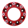 8 Lug 2 Inch Red Wheel Spacer 8x8 Front
