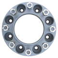 8 Lug 2 Inch Gray Wheel Spacer 8x8 Front View