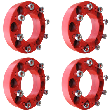 8 Lug 2 Inch Red Wheel Spacer 8x8 Set