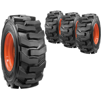 12x16.5 Ultra Guard Skid Steer Tire And Wheel Set