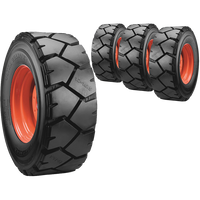 12x16.5 Ultra Guard LVT Skid Steer Tire And Wheel Set