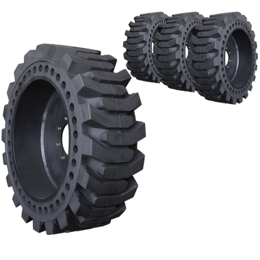 10x16.5 ProFlex Solid Skid Steer Tire And Wheel Set