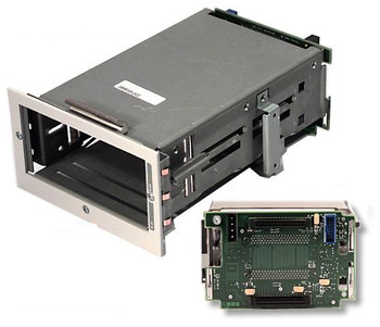 HP 144087-001 2 Bay Lvd Internal Ultra2 Drive Cage With Scsi Simplex Backplane Board Compatible For Proliant And Tasksmart C-Series