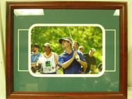 David Toms Framed Photograph Signed Well Fargo Golf