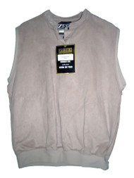 Zero Restriction Micro Suede Golf Vest (Tan, Lady, Large) Sleeveless Top NEW