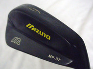"Mizuno MP-37 6 iron (Steel, STIFF, CUSTOM BLK, YELLOW, +1"") Golf Club"
