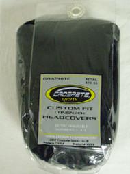 Crospete Custom Fit Longneck Fairway Driver Headcover Black NEW
