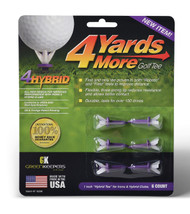 "4 More Yards Golf Tees (6pk, 1"" Purple) Hybrid Tee GreenKeepers NEW"