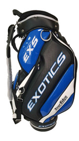 "Tour Edge Exotics EXS Staff Bag (Black/White/Blue, 4-way Top 10.5"") Golf NEW"