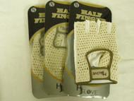 HJ Glove Half Finger Gloves (LADIES Left, SMALL, 3pk) Tan NEW