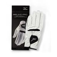 Mizuno Pro Golf Glove (White/Black, LEFT, CADET) 2016 NEW