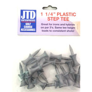 """JTD Enterprises Plastic Step Tees (1 1/4"""", Silver, 50 PACK, 750 TEES) NEW"""