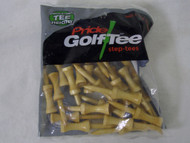 "Pride Golf Step-tees (2 1/8"", Natural, 25pk) Consistent Tee Height NEW"
