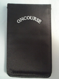 On Course Deluxe Scorecard/Yardage Book Holder (Black) NEW