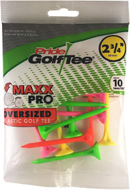 "Pride Golf Maxx Pro Oversized Plastic Golf Tees (2 3/4"", Neon, 10pk) NEW"