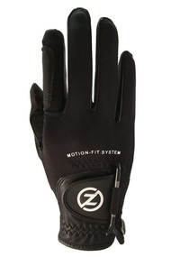 Zero Friction Motion-Fit Golf Glove (Black/Black, Men's Right, ONE SIZE) NEW