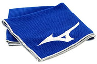 "Mizuno Tour Microfiber Golf Towel (Blue, 22""x42"", 2020) NEW"