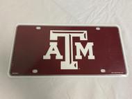NCAA Collegiate Team License Plate (Texas A&M Aggies, Logo) NEW