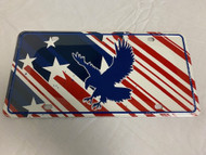USA American Flag License Plate (Red/White/Blue, Eagle) NEW