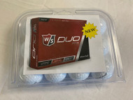 Wilson Staff Duo Spin Golf Balls (White, 12pk, OUT OF BOX) Clam Shell NEW