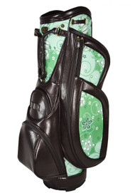 Burton Milano Ladies Cart Bag (Brown/Green Print) 6 -way-top Golf