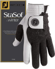 Footjoy StaSof Winter Golf Gloves (Pearl, Men's Pair, MEDIUM) 2019 NEW